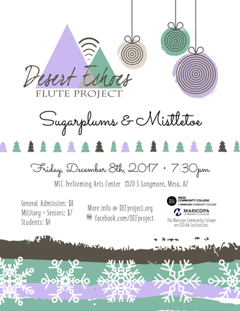 DEF Project Sugarplums and Mistletoe Concert Poster