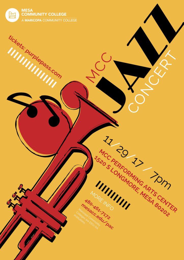 Jazz Ensemble & Latin Jazz Band Concert Poster