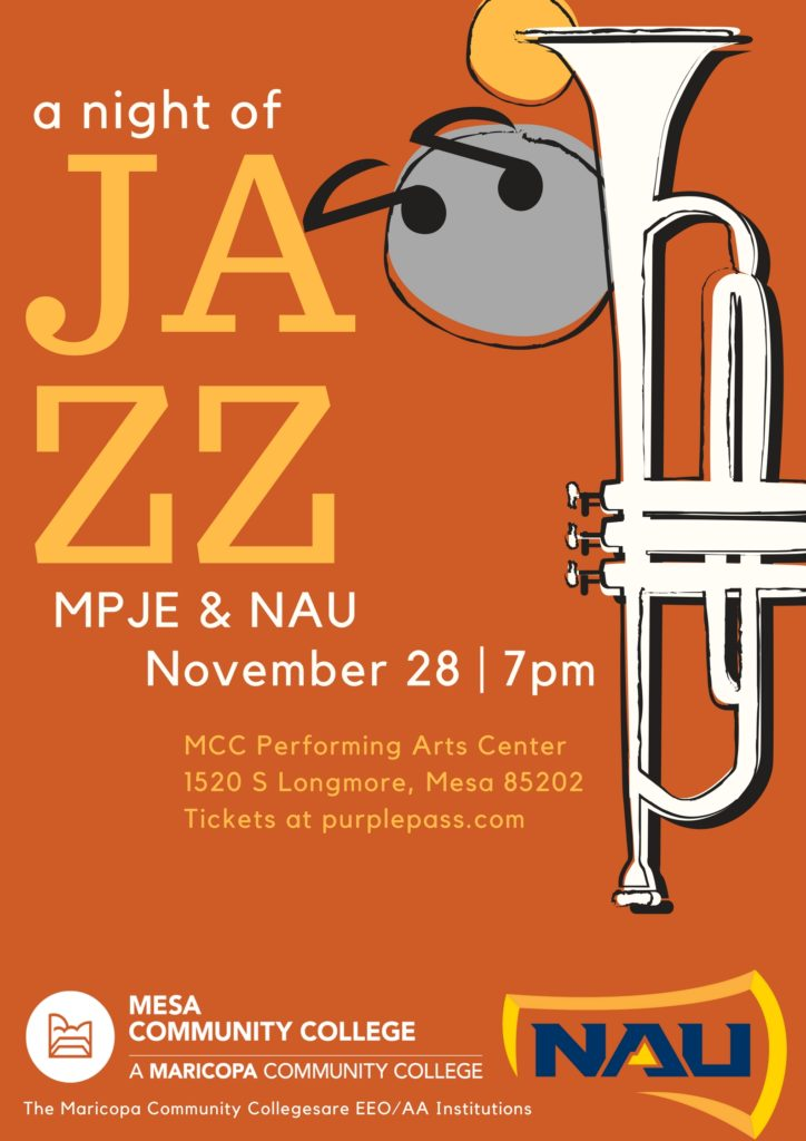 MPJE & NAU Jazz Concert Poster