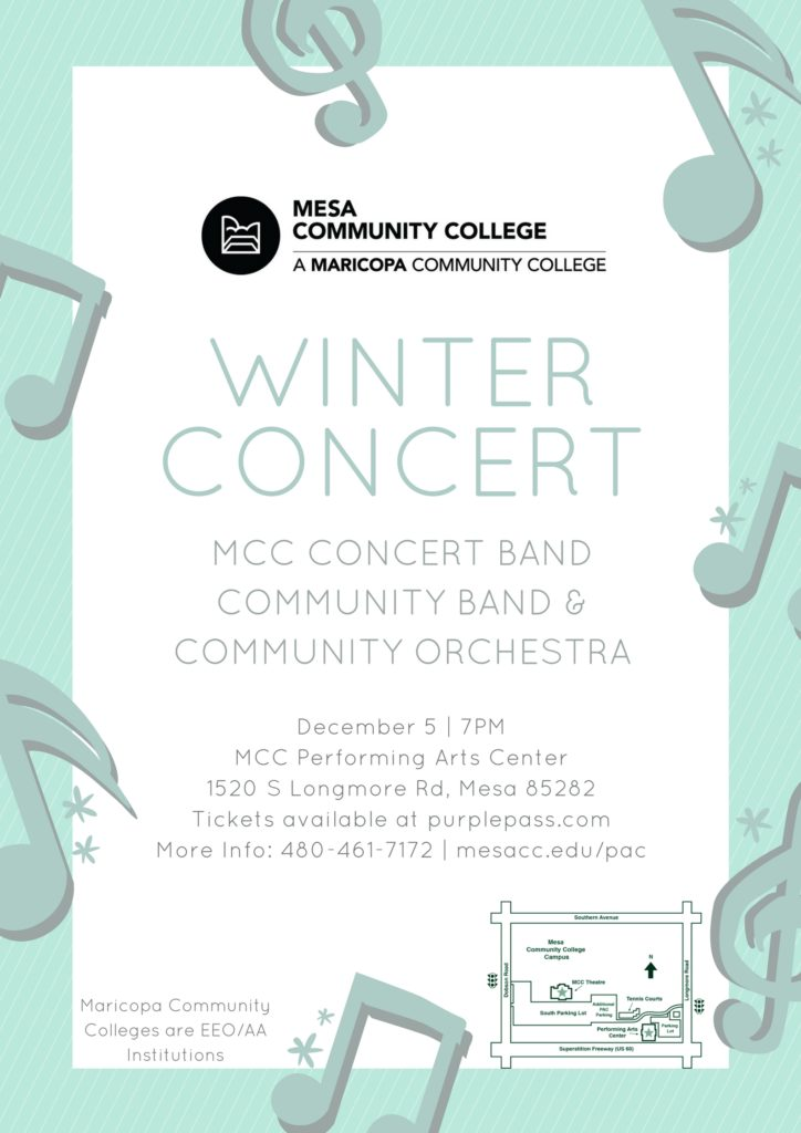 Bands and Orchestra Concert Poster