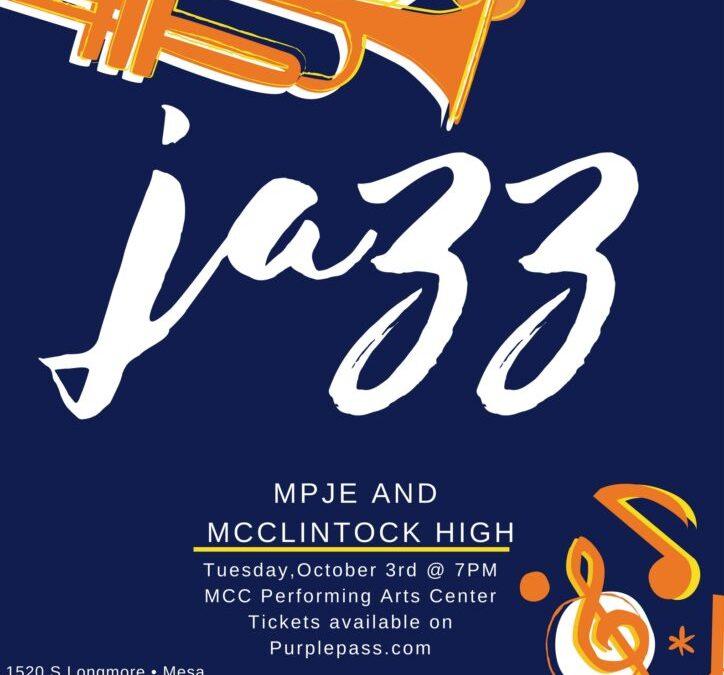 10/3 MPJE & McClintock Orchestras in Concert